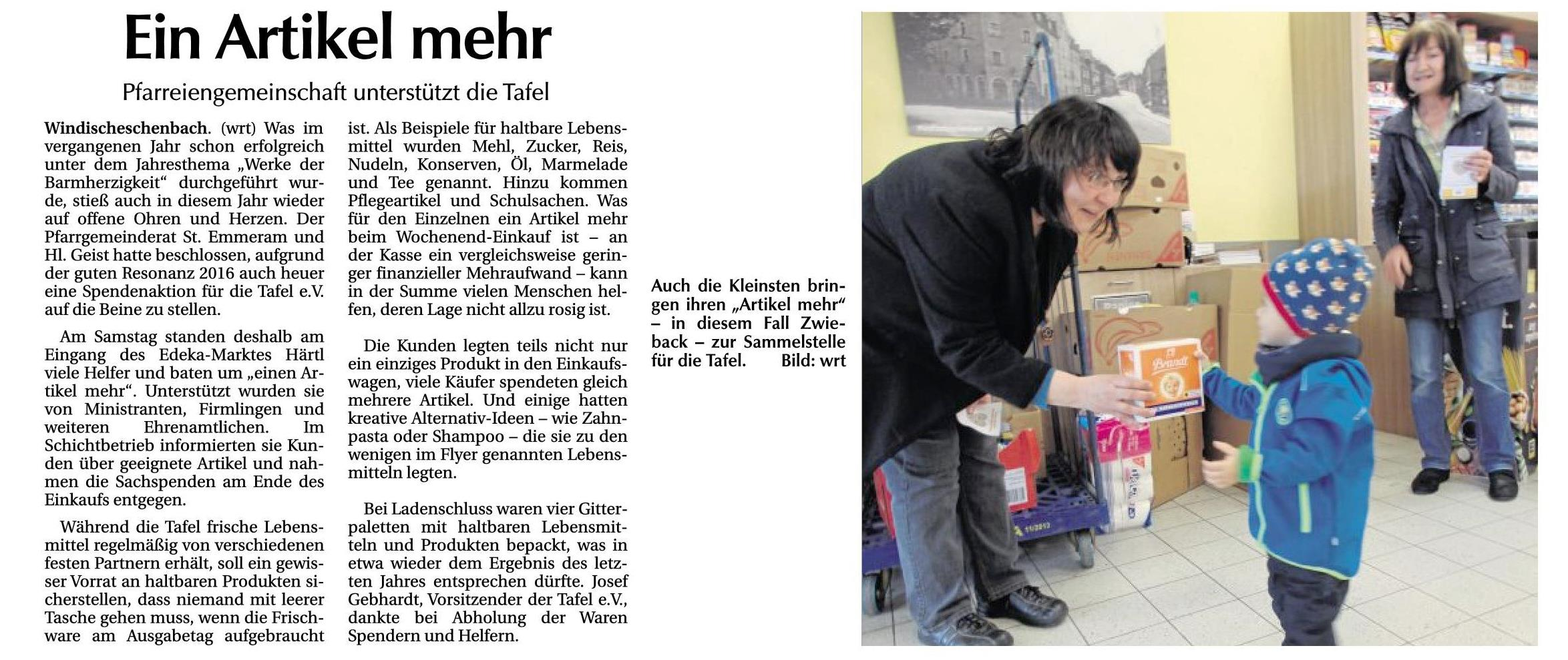Tafel - Windischeschenbach 04.10.17
