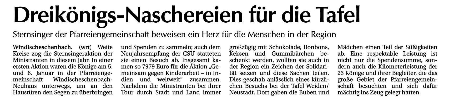 Tafel - Windischeschenbach 08.02.18